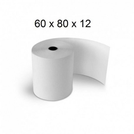 Rouleaux Papier Thermique 80 x 60 mm 55g/m²