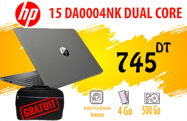 PC PORTABLE HP 15 DA0004NK DUAL CORE 4GO 1TO