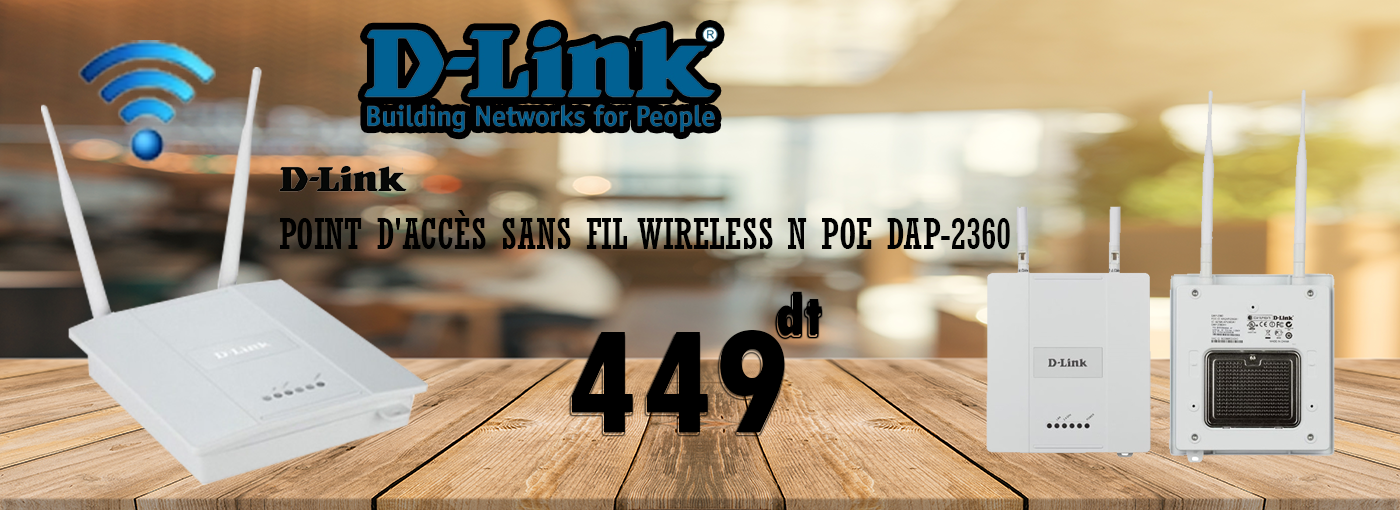 POINT D'ACCÈS SANS FIL WIRELESS N POE DAP‑2360