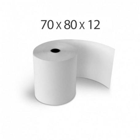 Rouleaux Papier Thermique 80 x 70 mm 55g/m²
