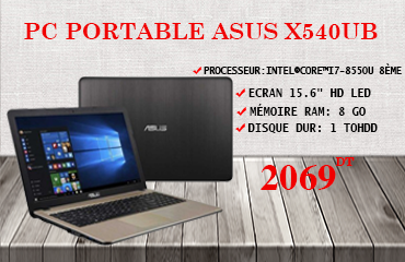 PC PORTABLE ASUS X540UB I7-8550U 8GO 1TO