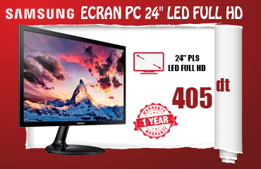"ECRAN PC SAMSUNG 24"" LED FULL HD (LS24F350FHM)"